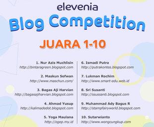 pemenang kompetisi blog elevenia